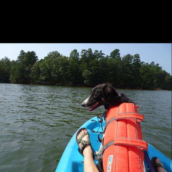Ailsa kayaking