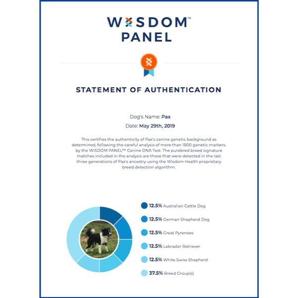Pax Wisdom Panel Certificate